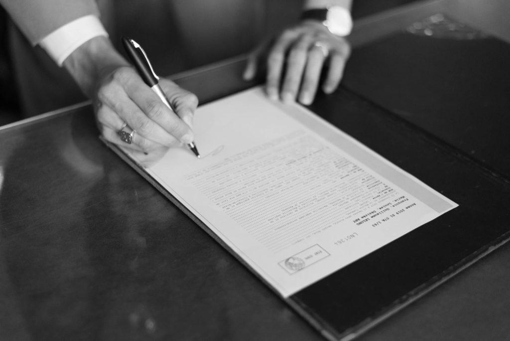Signature du mari