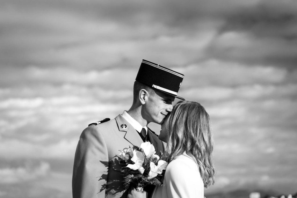 Séance photo de couple lors du mariage