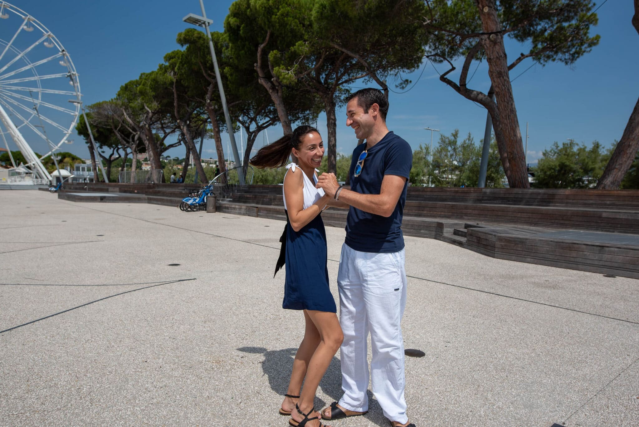 First dance rehearsal in Antibes