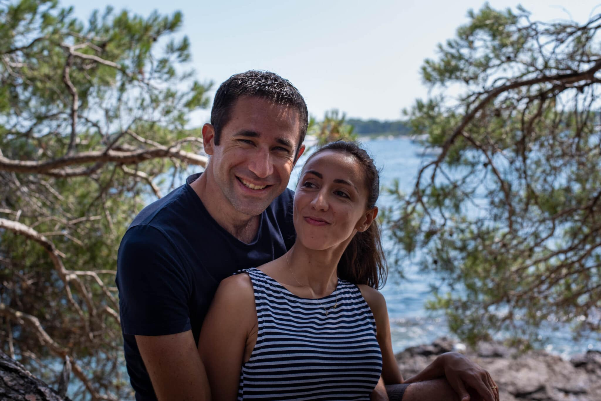 Joanne and François on Sainte-Marguerite Island