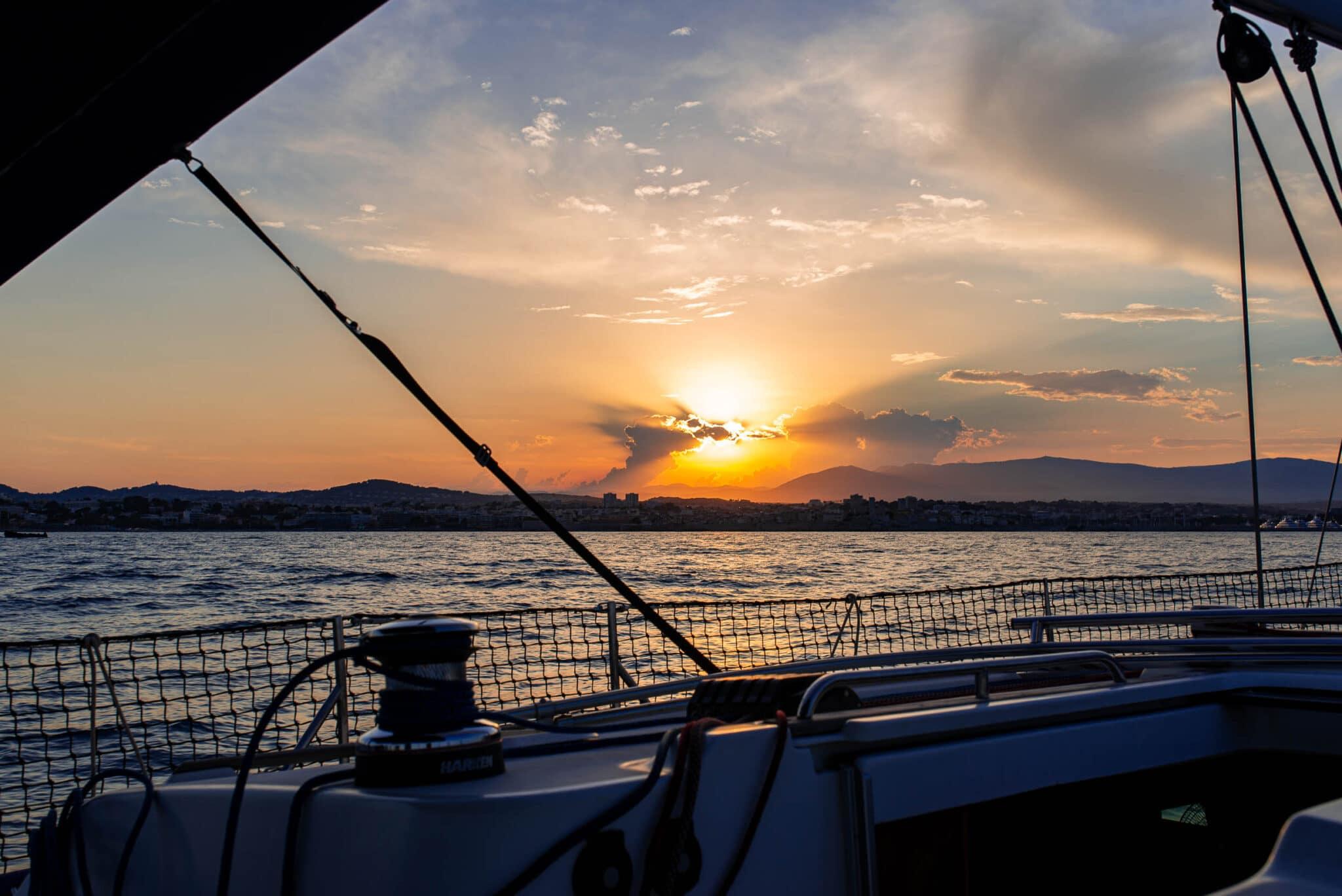 Sunset on Antibes