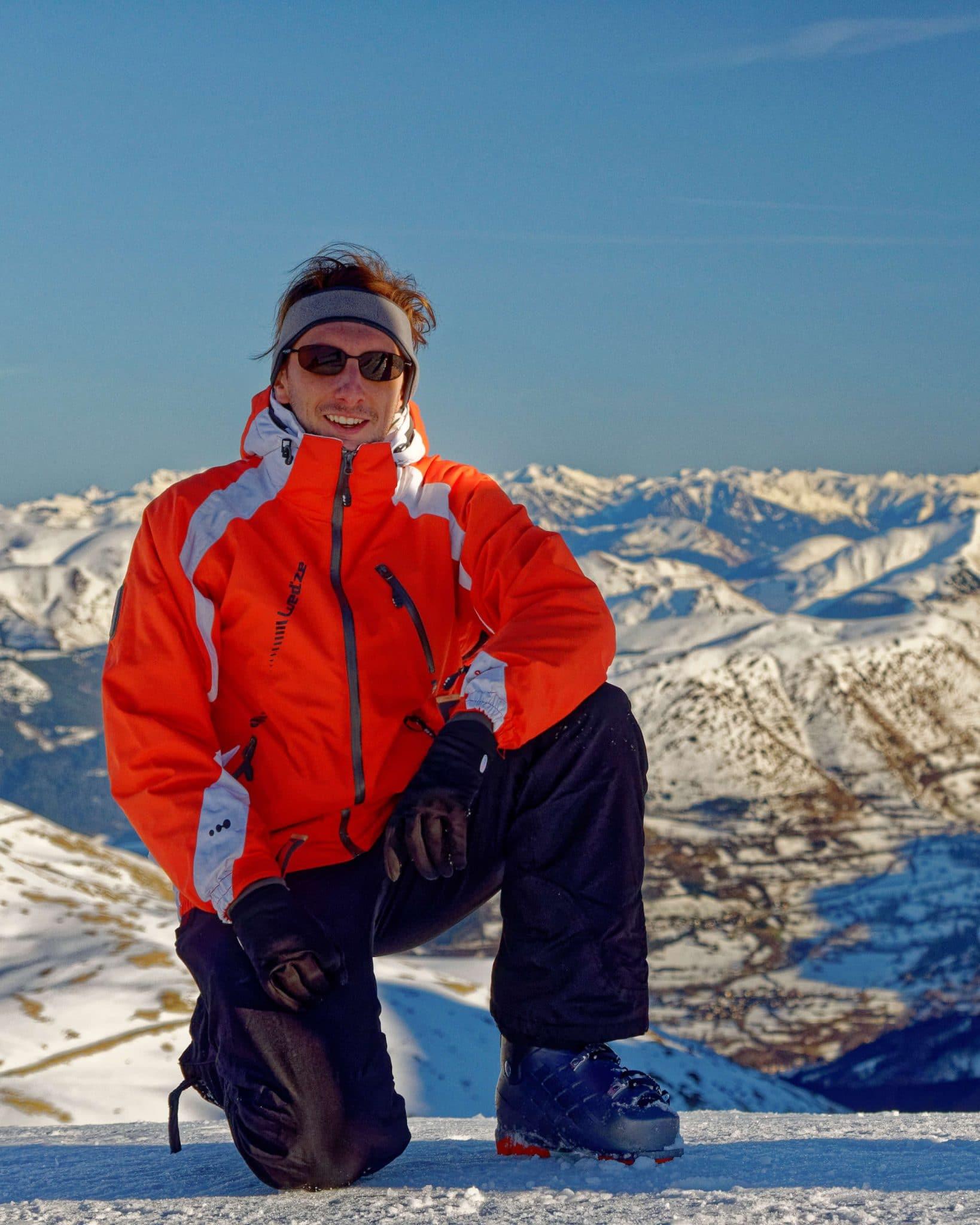 Un photographe de mariage provençal au ski